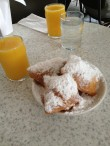 Beignets and orange juice from Cafe du Monde